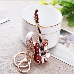 Electric Guitar Guitar keychain accessory